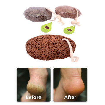 2 Volcanic Lava Pumice Stone Foot Massage Scrub Exfoliate Pedicure Grinding