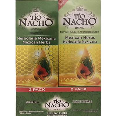 TIO NACHO Mexican Herbs Shampoo and Conditioner, Twin Pack (2 Pack 14 fl. oz. Each)