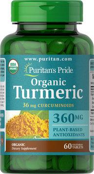 Puritan's Pride USDA Organic Turmeric Curcumin 360 mg-60 Capsules
