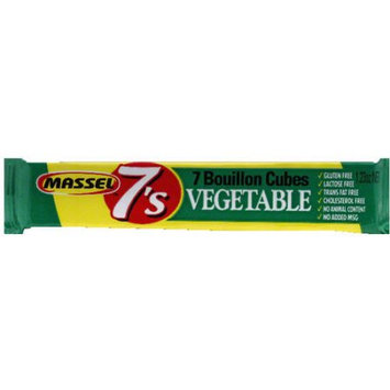 Massell Massel 7's Vegetable Bouillon Cubes, 7 count, 1.23, (Pack of 30)