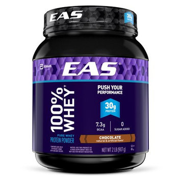 Abbott Nutrition EAS 100% Whey Protein Powder Chocolate Dietary Supplement, 2 lbs, (Pack of 4)