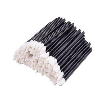 Disposable MakeUp Lip Brush Lipstick Gloss Wands Applicator Perfect Make Up Tool Black (50pcs)