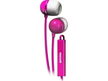Maxell 190304 In-Ear Buds with Built-in Microphone Pink