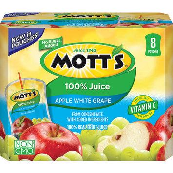 Mott's 100% Juice Pouches, Apple White Grape, 6.75 Fl Oz, 32 Count