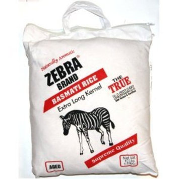 Naturally Aromatic Zebra Basmati Rice Extra Long Kernel 10 Lb Bag - NET WT 10 lbs (Pack of 2)