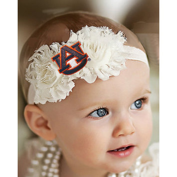 Auburn Tigers Baby/ Toddler Shabby Flower Hair Bow Headband