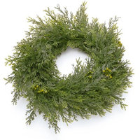 National Tree Company 12 in. Cedar Pine Candle Ring LCP-800-12