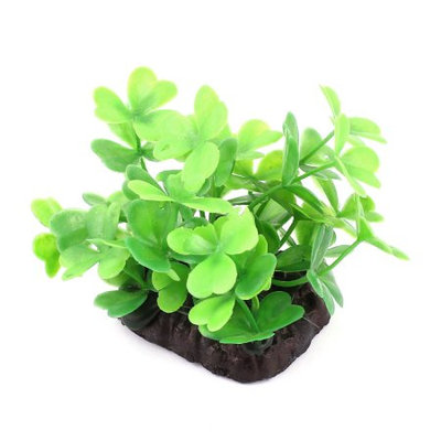 7cm Green Plastic Artificial Water Plant Grass for Fish Tank
