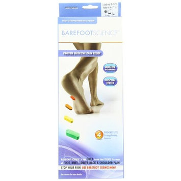 Barefoot Science 4 Step Multi Purpose Insoles, 3/4 Length, Size XXS