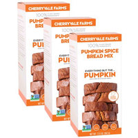 Cherryvale Farms, Pumpkin Spice Bread Baking Mix, Everything But The Pumpkin, Vegan, Dairy-Free, Non-GMO, 17.5 oz (pack of 3)