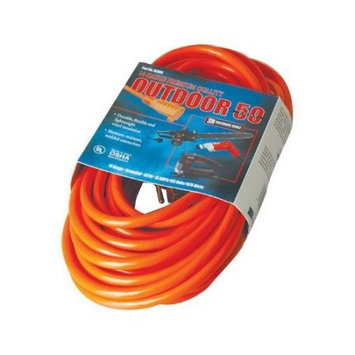 Coleman Cable 02408 50-foot 14/3 Red Extension Cord