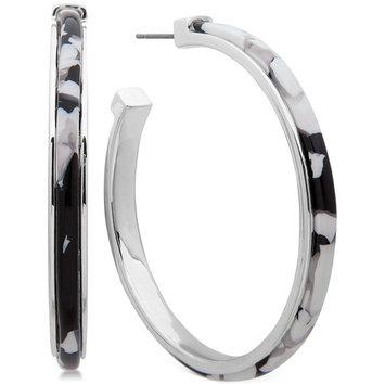 Medium Colored Acetate Open Hoop Earrings 1-3/4