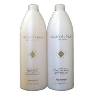 AlfaParf Semi Di Lino Illuminating Shampoo and Conditioner, 33.8 Ounce