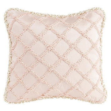 Glenna Jean Florence Pillow, Pink Pucker/Cream