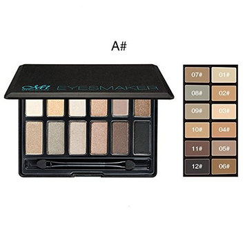DATEWORK 12 Colors Professional Natural Matte Makeup Eye Shadow Smoky Cosmetic Set