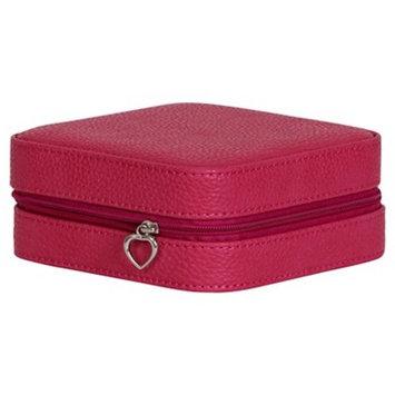 Mele & Co. Josette Women's Travel Jewelry Case in Faux Leather-Magenta