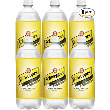 Schweppes Tonic Water, 33.8 Fl Oz (Pack of 6)