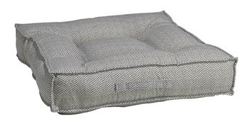 Bowsers Pet Products Bowsers Diamond Series Microvelvet Piazza Dog Bed Taupe Herringbone, Size: L (34L x 34W x 7H in.)