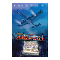Jetage Aviation Art JA031 14 x 20 in. Mia International Airport Poster