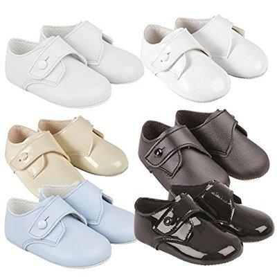 BNIB Made in England baby boys Baypod first pram shoes in blue FREE UK POSTAGE
