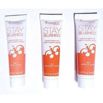 Rimmel Stay Blushed Liquid Cheek Tint, Peach Flush, 0.47 Fluid Ounce
