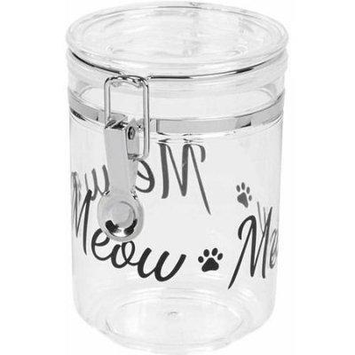 Iris Cat Treat Jar - Black