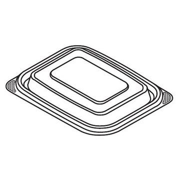 Genpak® Smartset®Pro Polypropylene Rectangle Container Lid Fits FPR024-3L, FPR024-CL, FPR032-3L and FPR032-CL Containers, Clear | 300/Case | PJP Marketplace