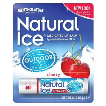 Mentholatum Natural Ice Medicated Lip Protectant Sunscreen SPF 15 CHERRY balm