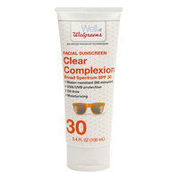Walgreens Clear Sunscreen Lotion Face SPF 30 3.4 oz.(pack of 4)