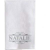 Personalized Name Waffle Weave Towel, Available in 3 Font Colors