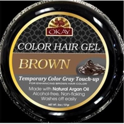 OKAY Color Hair Gel Brown 59 ml - 6 pieces