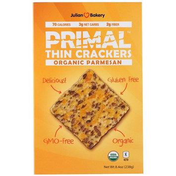 Julian Bakery, Primal Thin Crackers, Organic Parmesan, 8.4 oz (238 g) [Flavor : Organic Parmesan]