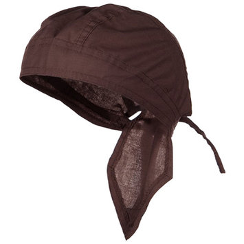 Brown Doo Rag Durag Chemo Headwrap Solid Color Bandana Cotton Skull Cap Mens Womens