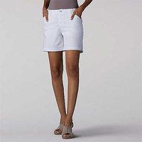 Women's Lee Tailored Chino Short, Size: 16 Avg/Reg, White