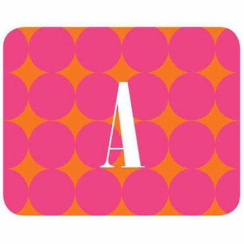 Custom Personalization Solutions Personalized Pink Polka Dots Mouse Pad