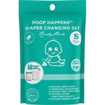 Products on the Go POTG1000 Poop Happens Ready Pack VB Diaper - Small