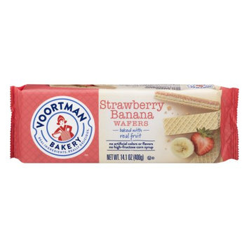 Voortman Cookies Voortman Bakery Wafers Strawberry Banana, 14.1 OZ
