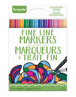 Crayola Aged Up Contemporary Adult Fineline Markers-MULTI-One Size