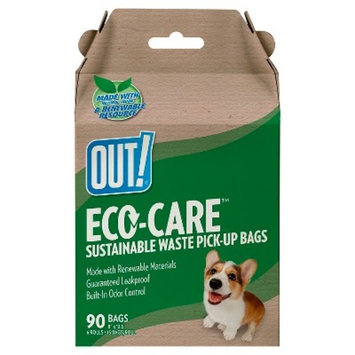 OUT! Eco-Care Dog Waste Bags, 90ct