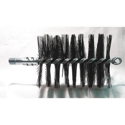 TOUGH GUY 3EDG1 Flue Brush, Dia 3 1/2,1/4 MNPT, Length 8