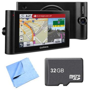 Garmin dezl Cam LMTHD 6 GPS Truck Navigator w/ Dash Cam 32GB Micro SD Card Bundle