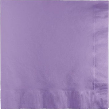 CPC B1313L Lavender Disposable 2-Ply 1 by 4 Fold Lunch Party Napkins, Case of 600 - 12 Case of 50