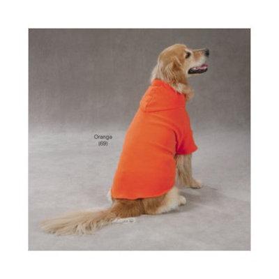 Casual Canine Basic Fleece Hoodie Orange, X-Large