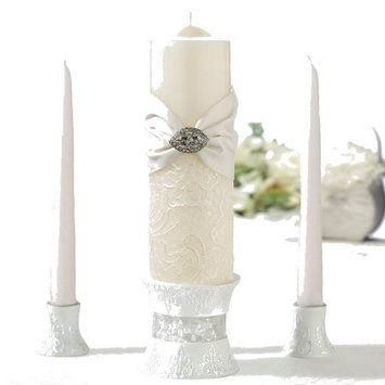 Lillian Rose Inc. Lillian Rose WS726 C Lace Taper and Candle Set