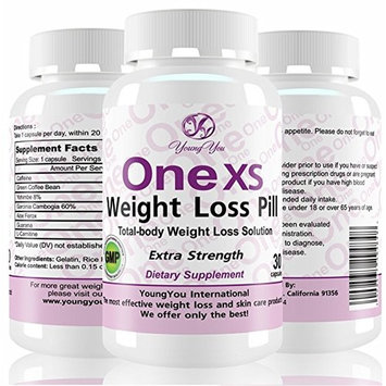One XS Diet Pills (X-Strength) Pharmaceutical Grade Weight Loss Diet Pills. Appetite suppressor Fat Burner.