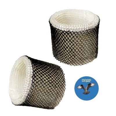HQRP Wick Filter for Bionaire BCM1745 BCM1745-C BCM2200 BCM2220 Cool Mist Humidifier, BWF64 BWF64CS BWF64-CN / HWF64 Type B Replacement + HQRP Coaster (Pack of 2)
