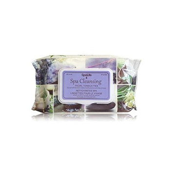 SpaLife Spa Cleansing Facial Towelettes - 60 Count - 6 Pack ( Lavender Rosemary)