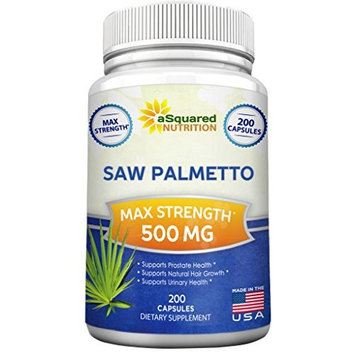 Saw Palmetto Supplement For Prostate Health (200 Capsules) - 500mg Max Strength Extract & Berry Powder Complex to Reduce Frequent Urination, DHT Blocker, Natural Herbal Pills to Fight Hair Loss
