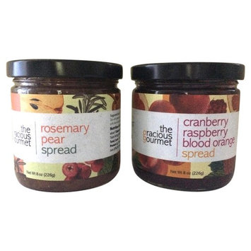The Gracious Gourmet Rosemary Pear Spread/Cranberry Raspberry Blood Orange, 16 Ounce