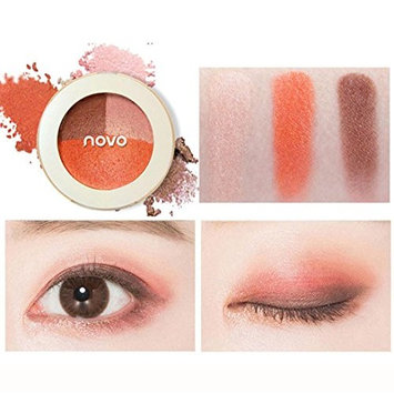 Creazy 3 Colors Mixed Pearlescent Matte Eyeshadow Eye Shadow Make Up Textured Pallette